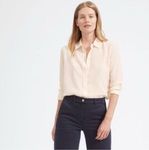Everlane Relaxed Silk Top in Nude